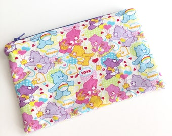 Care Bears Inspired Makeup Bag, Cosmetic Pouch, Pencil Bag