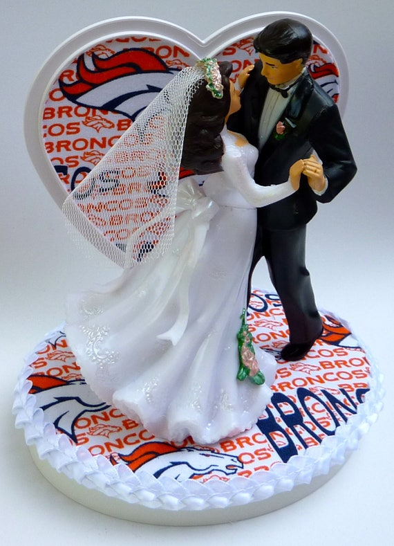 wedding cake toppers denver co wedding cake topper denver broncos themed 26450