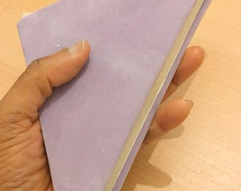 Origami sketchbook, hardback suede cover