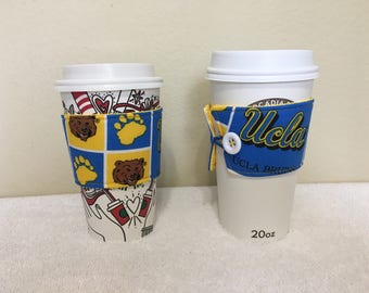 Coffee cozies/coffee sleeve/USC/UCLA (set of 2)