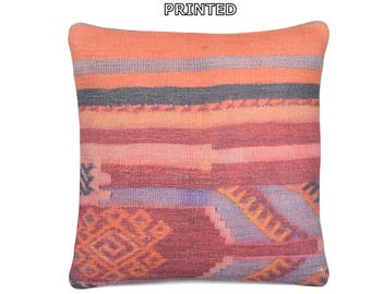 boho bedding pillow 18x18 throw pillow sham furniture pillow sofa pillow case unique home decor turkish pillow cover kilim pillow case 13-45