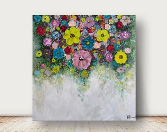 floral painting original  painting,abstract flowers painting,abstract painting,acrylic painting,canvas art,abstract art, acrylic painting