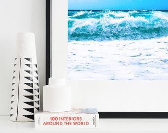 Ocean Print - Sea Print - Printable Wall Art - Water Poster - Instant Download Printable Art - Crashing Wave Minimalist Modern Wall Decor
