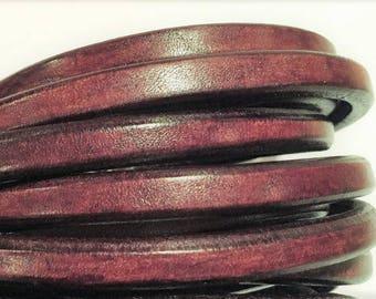 "PER 8"" Licorice Leather, Distressed Brown Regaliz Licorice Leather Cord"