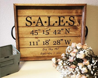 Personalized Coordinate Tray