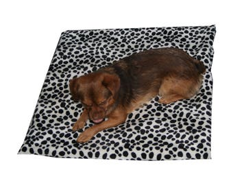 Rug faux fur dog