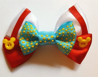 Roger Rabbit Inspired Hair Bow| Car Toon Spin | Jessica Rabbit| Disneybound hair bow| Toon Town