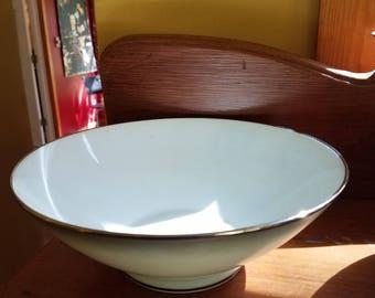 Rosenthal Elegance Serving Bowl, Rosenthal Round Vegetable Bowl, Platinum Edge #3331