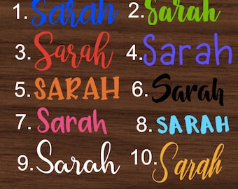 Personalized Name Decal | Yeti Decal | R-TIC Decal | Cup Decal | Personalized Sticker
