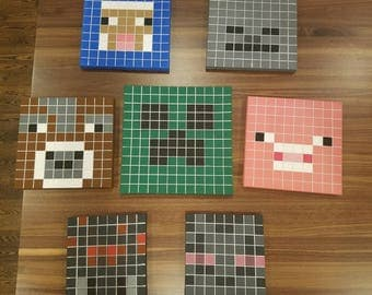 7 Minecraft canvas paintings