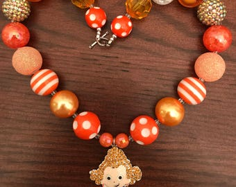 Deema from Bubble Guppies inspired Bubble Gum Necklace (Child/Toddler)