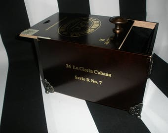 La Gloria Cubana Cigar Box Valet, Watch Box, Stash Box, Groomsman Gift, Guy Gift, Authentic, Tampa-NOT CUBAN