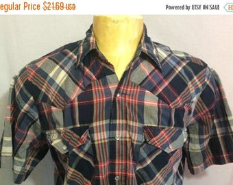 20% OFF SALE 30 Percent OFF Sale Vintage Canyon Guide Outfitters Western Pearl Snap Rockabilly Shirt  - rodeo - country music - western wear