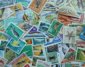 Fish - Lot of Worldwide Postage Stamps for Art Projects, Paper Crafts, Card Making, Jewelry, Decoupage and More