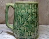 Yellow Ware Pottery Brush McCoy ? Pattern Mug