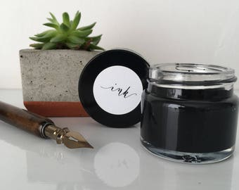 Calligraphy ink - Ebony - sumi ink for modern calligraphy