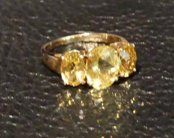 Heliodor 14K Ring, Golden Beryl, Vintage Engagement Wedding