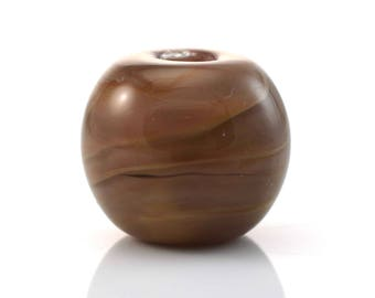 Wood Grain Handmade Glass Lampwork Bead
