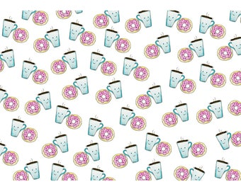Coffee & Donuts A4 Card | We go together