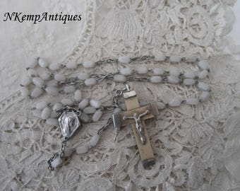 Vintage glass rosary 1930's