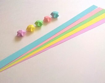 Pastel Mix : Lucky Star Paper Strips (100)
