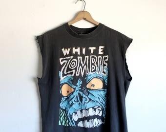 XLARGE Vintage 1980s White Zombie Tank Top