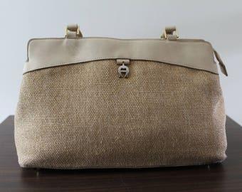 Etienne Aigner Purse Handbag Cream Beige