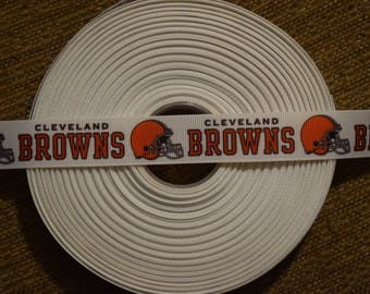"Cleveland Browns 7/8"" Grosgrain Ribbon"