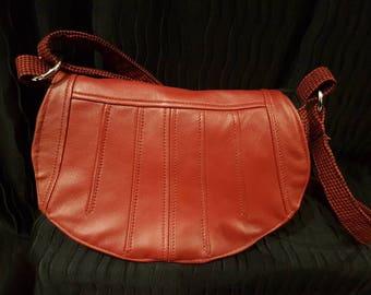 Leather crossbody purse