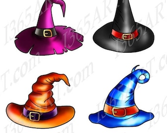 50% OFF Halloween Witch Hat Clipart, Witch hat clip art, Halloween Clipart, Witch Clipart, Party Invitations, Scrapbooking, Graphics, PNG JP