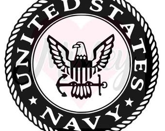 United States Navy Emblem SVG, PNG, and STUDIO3 Cut Files for Silhouette Cameo/Portrait and Cricut Explore DIY Craft Cutters