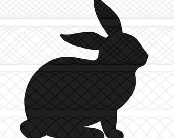 Bunny SVG, PNG, and STUDIO3 Cut Files for Silhouette Cameo/Portrait and Cricut Explore DIY Craft Cutters