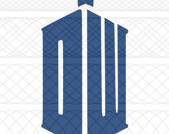 New Doctor Who TARDIS Logo SVG, PNG, and STUDIO3 Cut Files for Silhouette Cameo/Portrait and Cricut Explore Craft Cutters