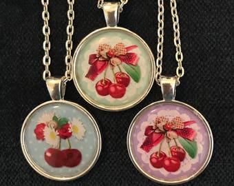 Cherry Pendant Cherry Necklace