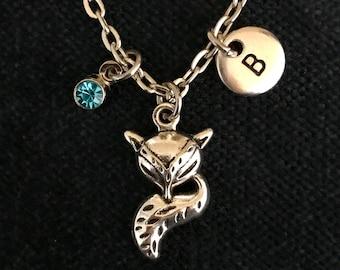 Personalized Fox Necklace Personalized Fox Jewelry