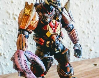 The Dark Lord Crabulor the evil master of the seas Battle Beast action figure custom toy one off art piece based upon retro 90s figures