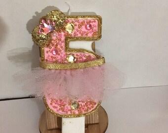 Minnie ballerina birthday candles.