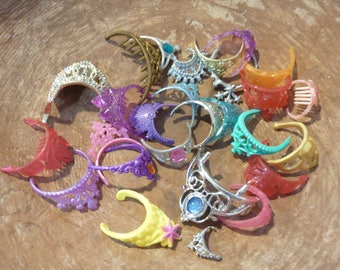 27 Miniature Crowns Princess Queen Fairy Barbie Doll House Accessory Accessories Toy Lot (#650)