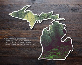 Michigan Mitten Vinyl Decal Sticker A2