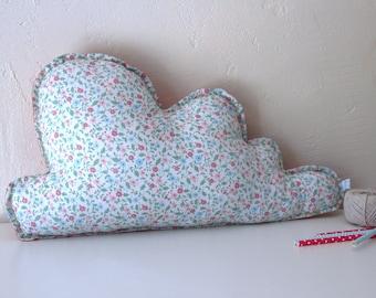 -Large cloud meadow - home decor, cushion, fabric, customizable
