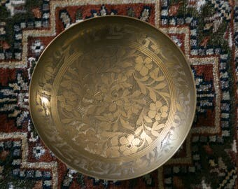 Etched Brass Bowl-India