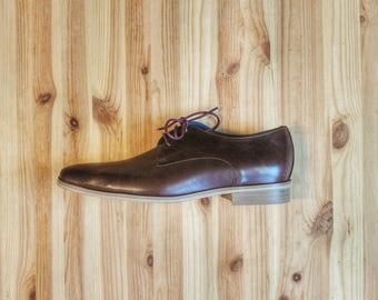 Men's leather brown Shoes - Flat Shoes - leather Shoes - Men's Shoes - Dress Shoes- Men's Oxford - brown Shoes - Hand Made Shoes - Arama