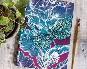 Dragonfly Lily A5 Hardback Spiral Sketchbook