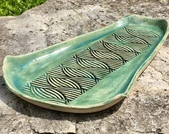 Aqua Green Serving Platter