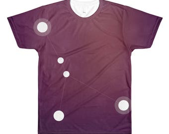 All-Over Printed T-Shirt - Zodiac Cancer Constellation All-Over T-Shirt