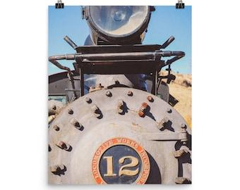 Photo paper poster - Red Silo Original Art - Train Car Engine 12