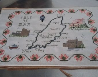 Vintage Isle of Man Tapestry Sampler.
