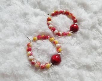 Fireball Jawbreaker Hoop Earrings