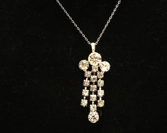 One of a Kind -  Vintage Repurposed Rhinestone Necklace