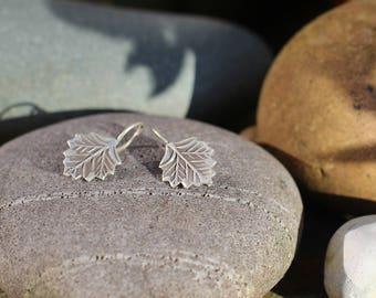 Thai Hill Tribe Silver Earrings, Leaf Earring, Silver Earring, Boho Silver, Karen Hill Tribe, Hook Earring